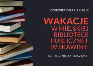 BIBLIOTECZNA OFERTA WAKACYJNA 2019