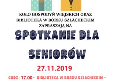 Spotkanie dla seniorów w Borku Szlacheckim