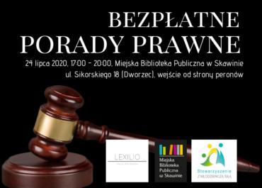 Bezpłatne porady prawne 24 lipca