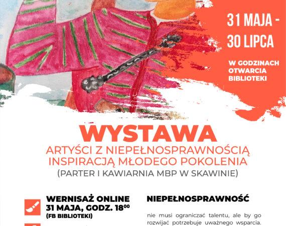 Plakat przedstawia jeden z obrazów powieszonych na wystawie - górala w tradycyjnym stroju. Ponadto podstawowe informacje dotyczące wystawy, której wernisaż odbędzie się 31 maja, o godzinie 18:00 w formie online.